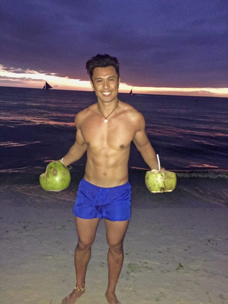coconut sunset boracay philippines