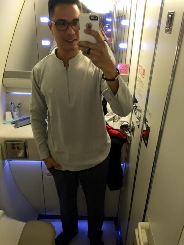 japan airlines first class pajamas