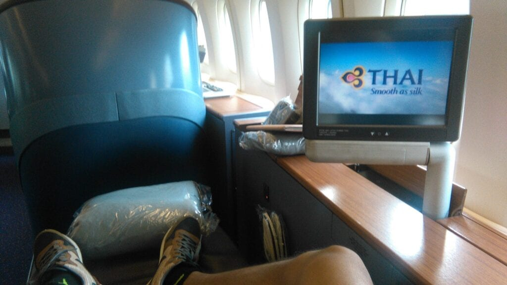 thai airways first class boeing 747