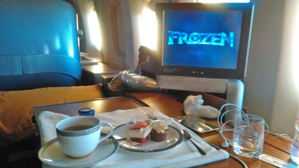 thai airways in flight entertainment first class