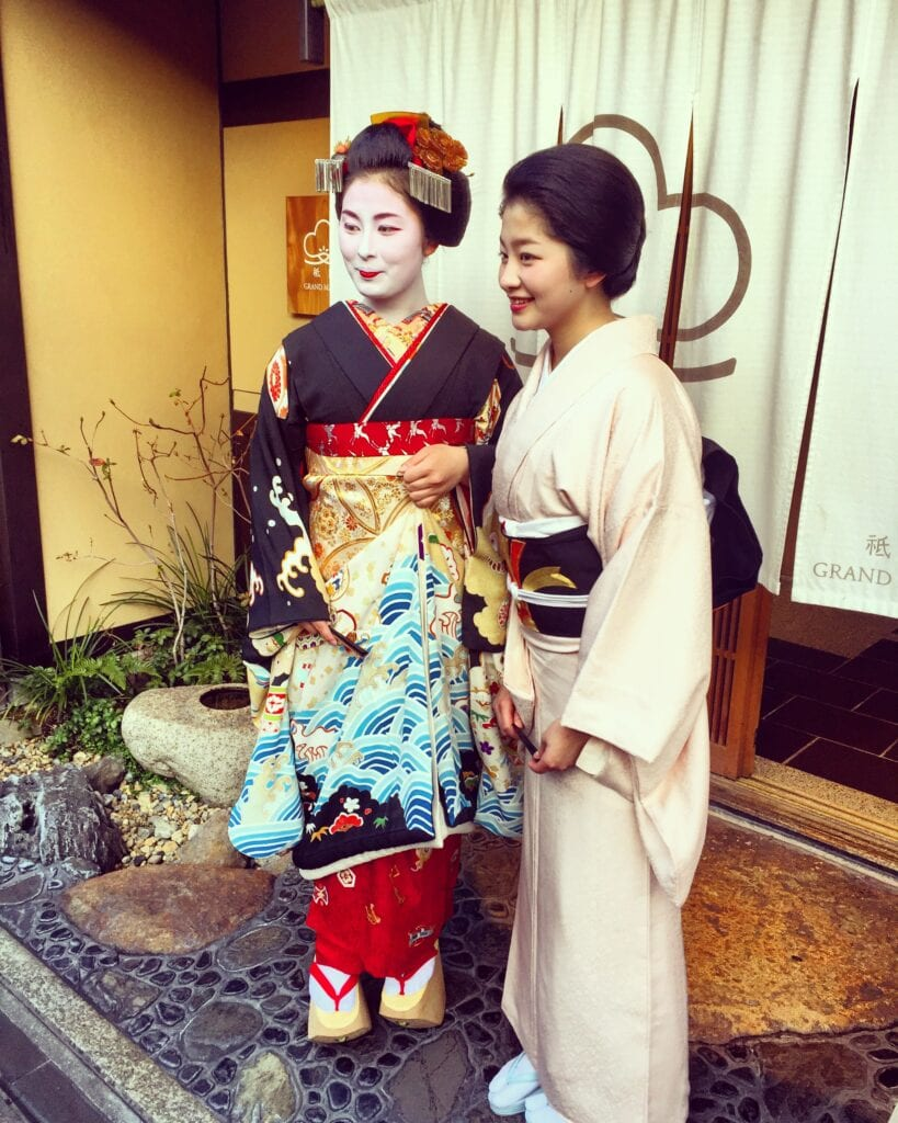 geisha gion district kyoto japan