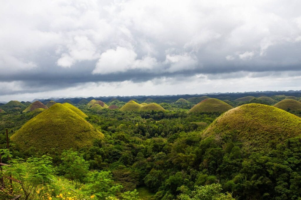 The Chocolate Hills of Bohol, Philippines.