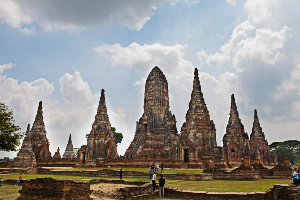 Ancient ruins in Ayutthaya