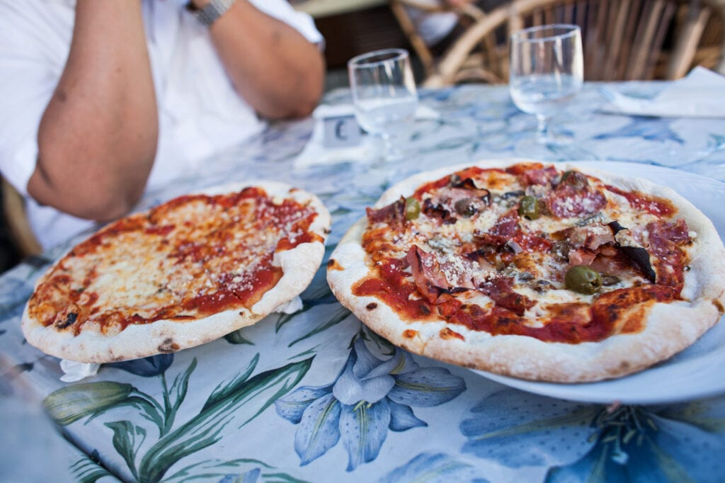 Pizza in Amalfi Coast