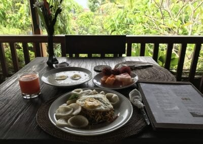 Balinese breakfast in Ubud