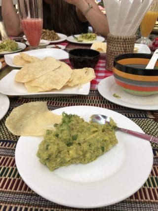 Fresh guacamole at Moon restaurant in Old Bagan