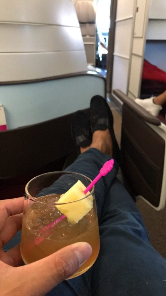 Hawaiian airlines business class mai tai