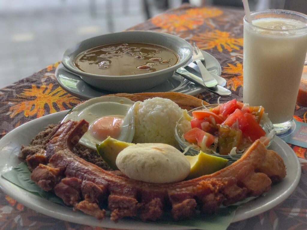 traditional colombian cuisine in medellín