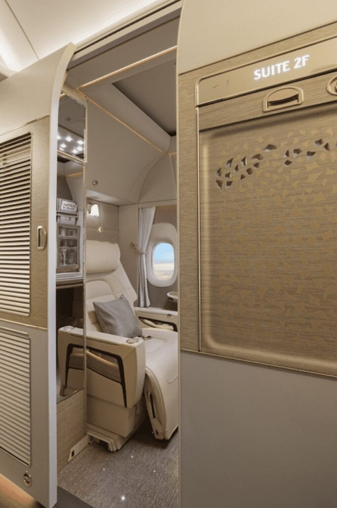 emirates first class cabin private suite