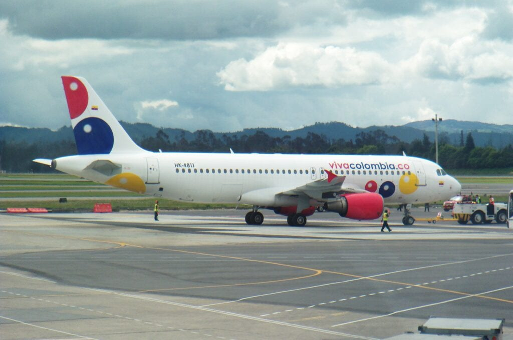 budget airline vivacolombia in medellin airport
