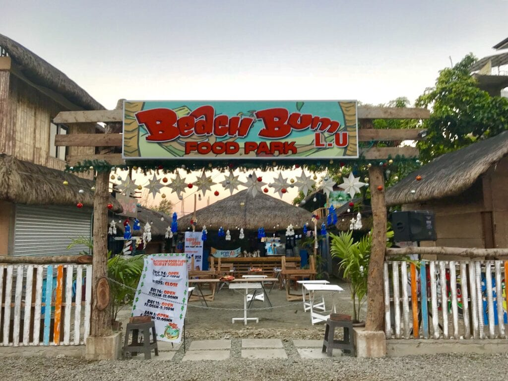 beach bum restaurant san juan la union