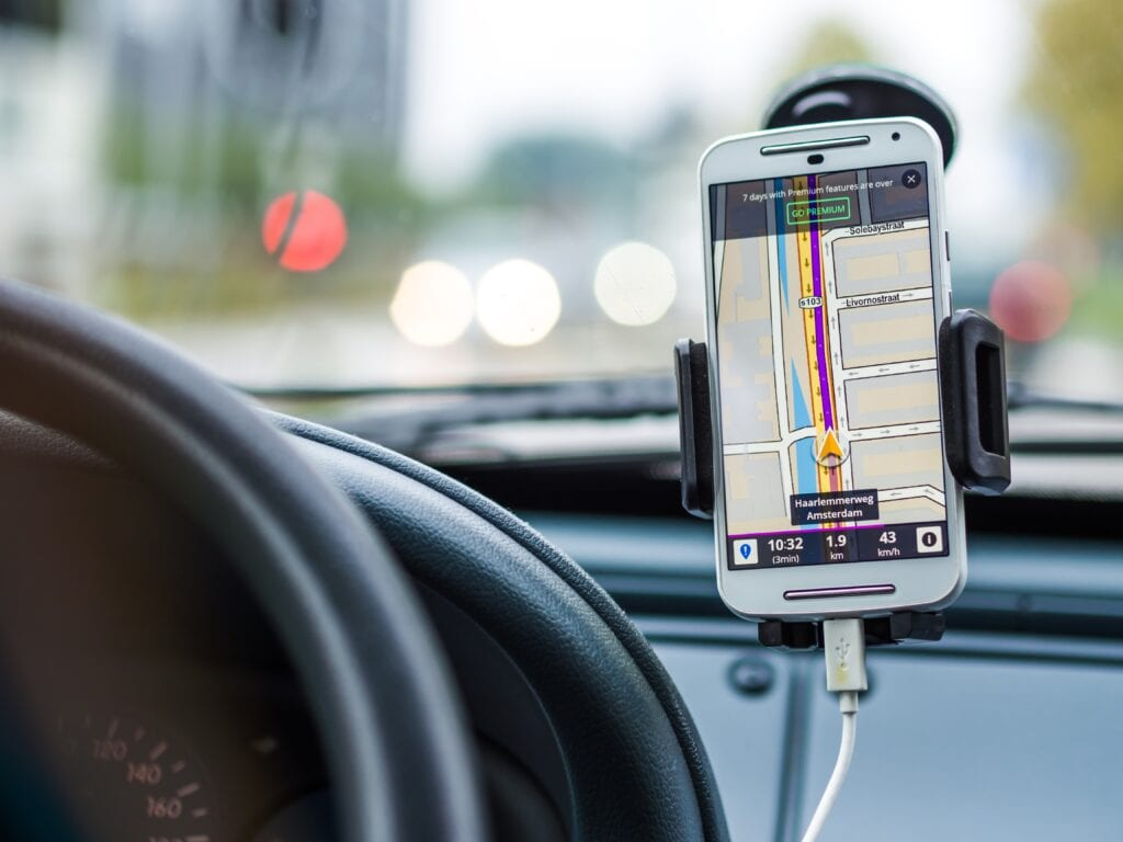 car mount smart phone accessory