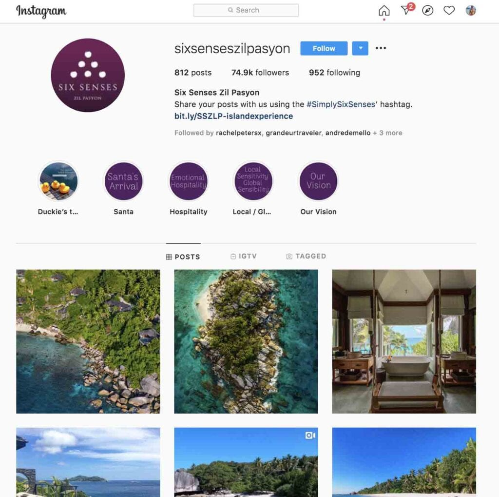 Six Senses top hotels to follow on Instagram