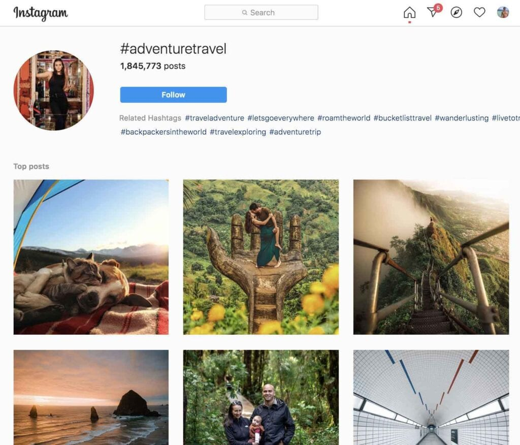Adventure travel Instagram hashtags